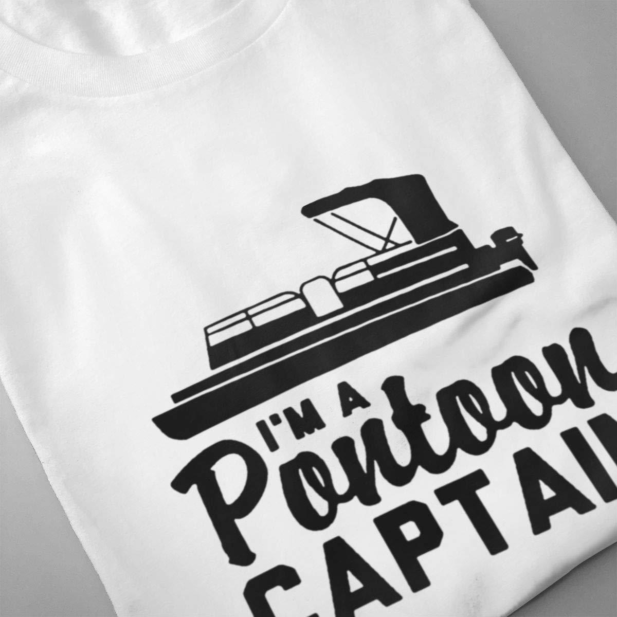 VIIHAHN Men Design Im A Pontoon Captain Ultra Soft Jogginground Neck Short Sleeve T-Shirts