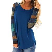 VonVonCo Femme Vetement Chemise Hiver ÉLéGant Mode Casual à Manches Longues Stripe T-Shirt en Vrac