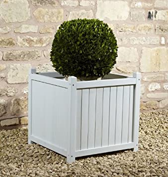 Classic Square Wooden Planter in French Blue Colour