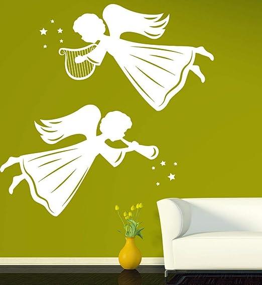 jiushivr Adhesivos de Pared Decorativos de ángel y Santos Apliques ...