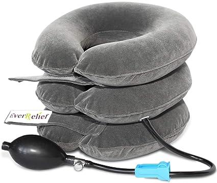 Amazon.com: Dispositivo de tracción inflable cervical ...