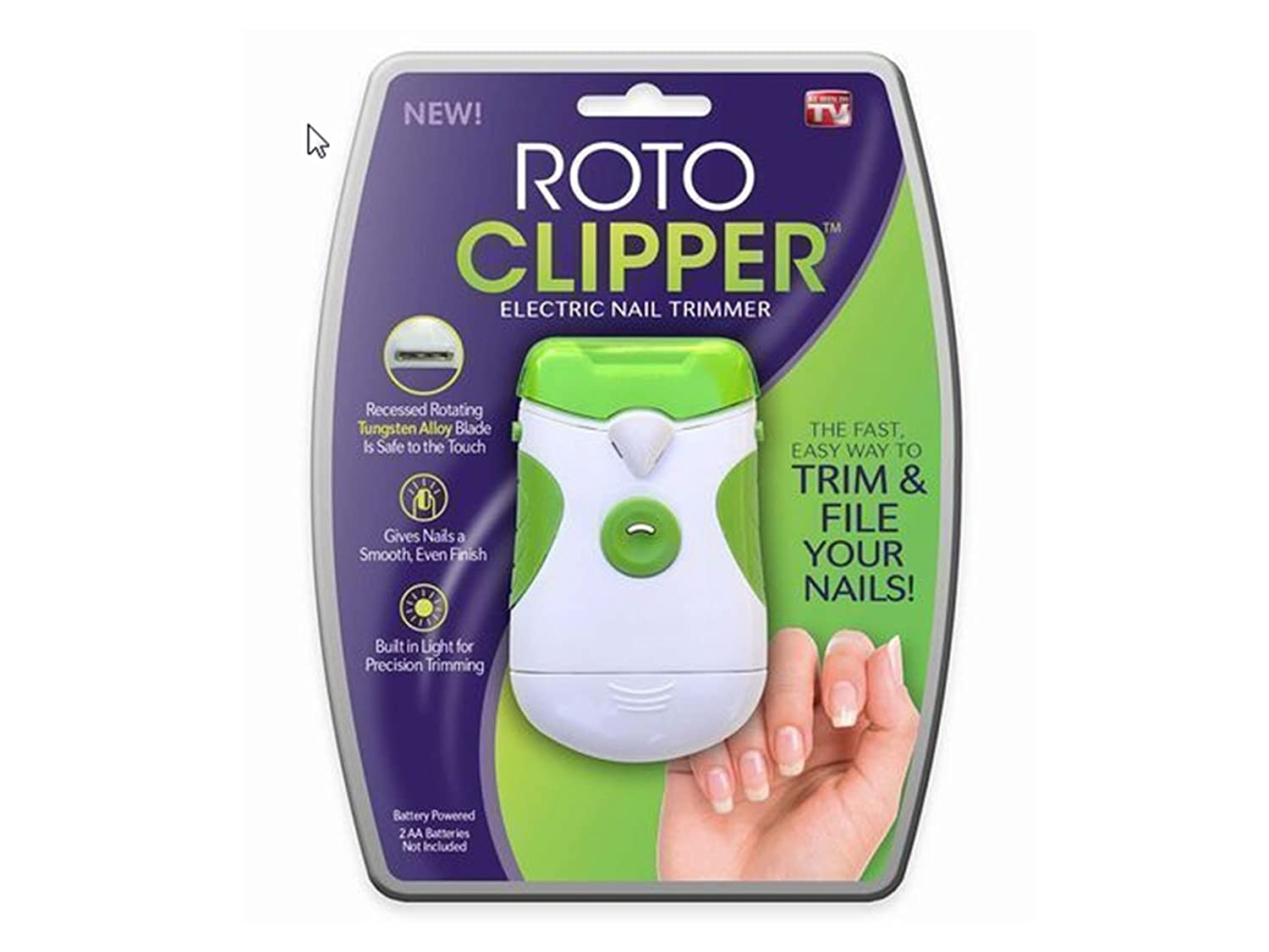 As Seen On TV Roto Clipper Electric Nail Trimmer Allstar HI