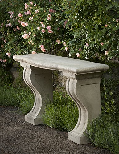 Campania International T-113-GS Loire Console Table, Grey Stone Finish For Sale