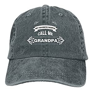 Zwd23yyj Unisex Flat Bill Hip Hop My Favorite People Call Me Grandpa Cap Baseball Hat Head-Wear Cotton Snapback Hats Asphalt