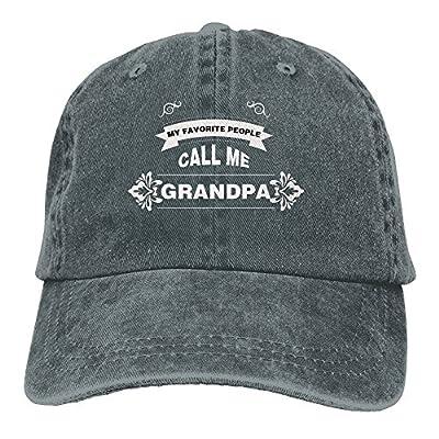 Zwd23yyj Unisex Flat Bill Hip Hop My Favorite People Call Me Grandpa Cap Baseball Hat Head-Wear Cotton Snapback Hats Asphalt