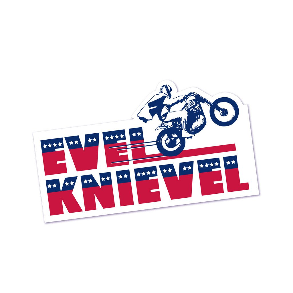 Amazon com the coop evel knievel bumper sticker toys games