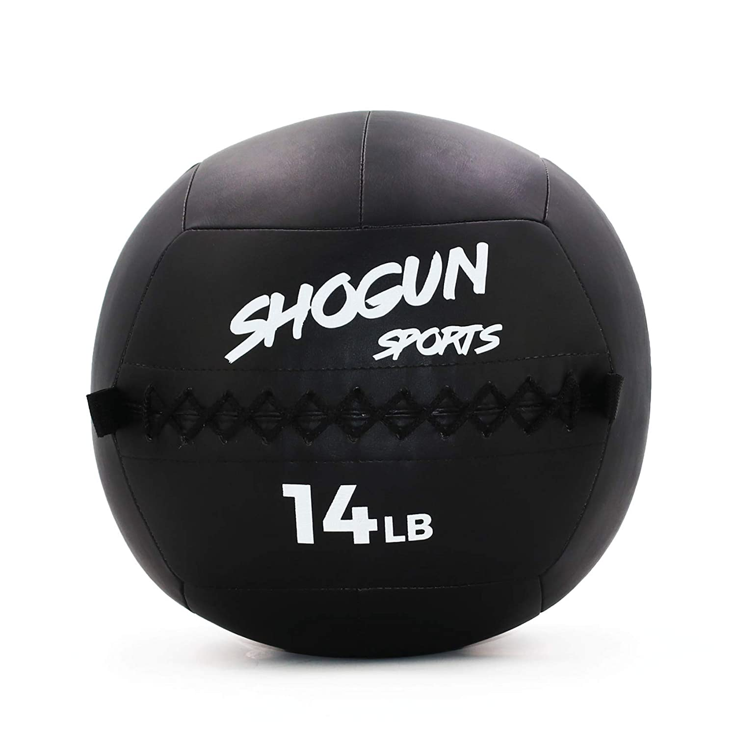 Shogun Sports Soft Wall Ball. Durable Medicine Ball for Strength, Conditioning, Cardio and Cross Training. Ideal for Wall Balls, Lunges, Partner Toss, Twists. Available in (10, 14, 20 LB)