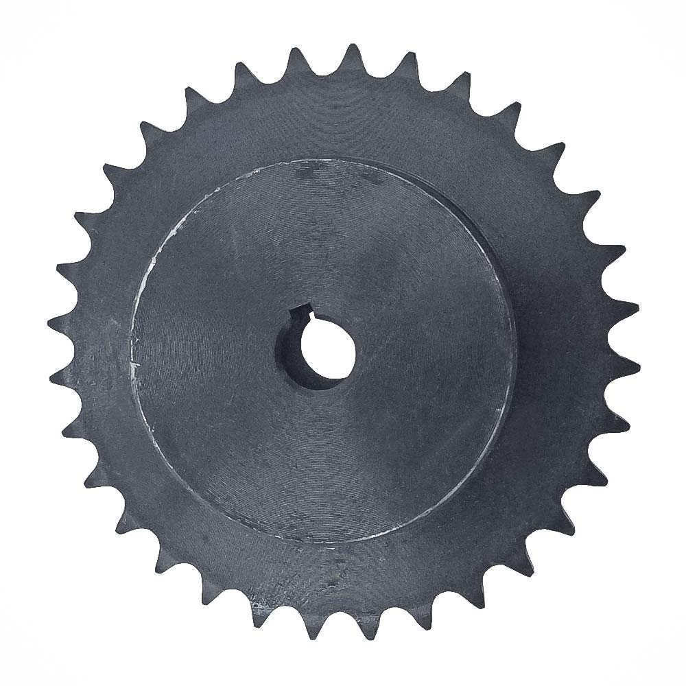 KOVPT # 40 Sprocket 17 Teeth Bore 0.625 B Hub Type Pitch 0.5 for 40 Chain Size Carbon Steel