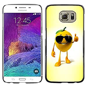LECELL -- Funda protectora / Cubierta / Piel For Samsung Galaxy S6 SM-G920 -- Funny Orange --