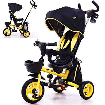 Jyy Baby Tricycle Folding Children S 4 In 1 Trikes Kids