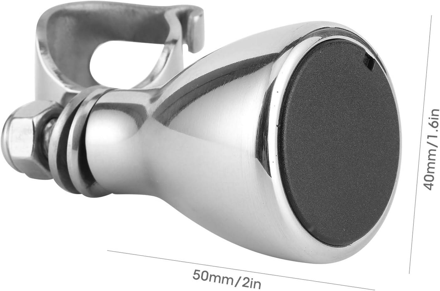 Qiilu Chromate Aluminum Alloy Steering Wheel Spinner Knob Handle for Marine Boat Yacht Boat Steering Wheel Spinner