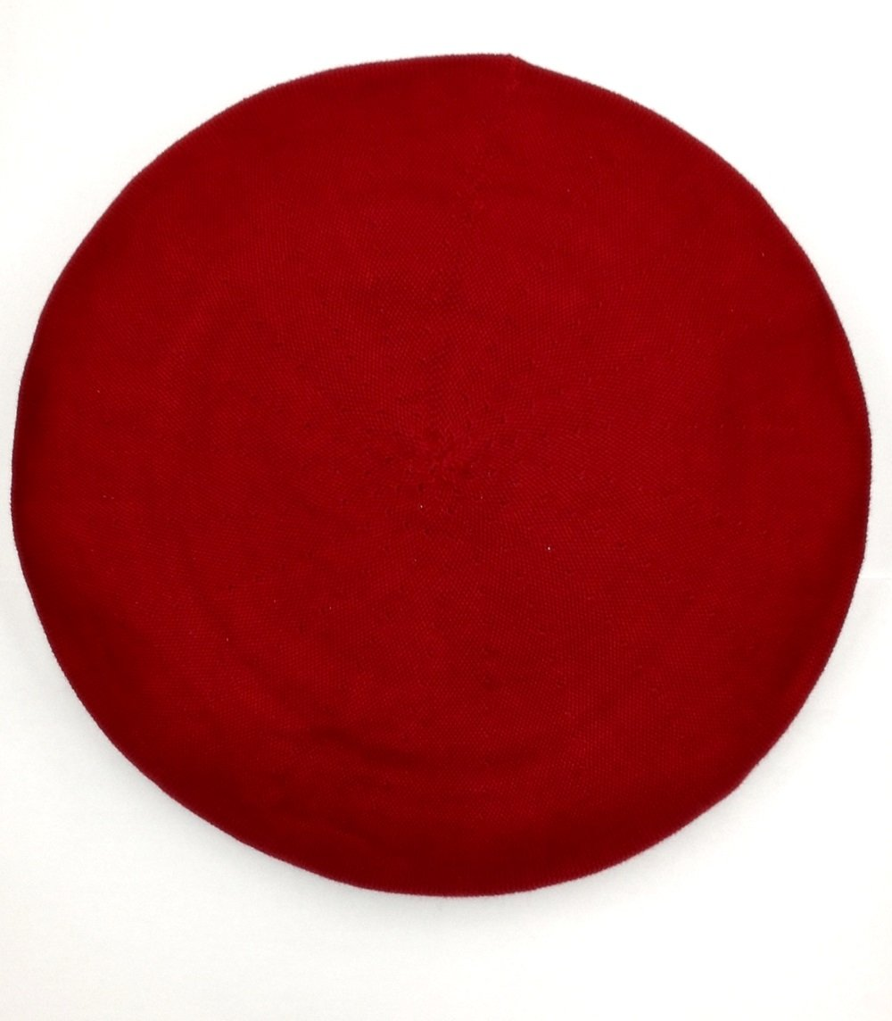 Parkhurst Classic French Beret (Adult)- 100% Cotton - Roman Red - 10'' Across The Top
