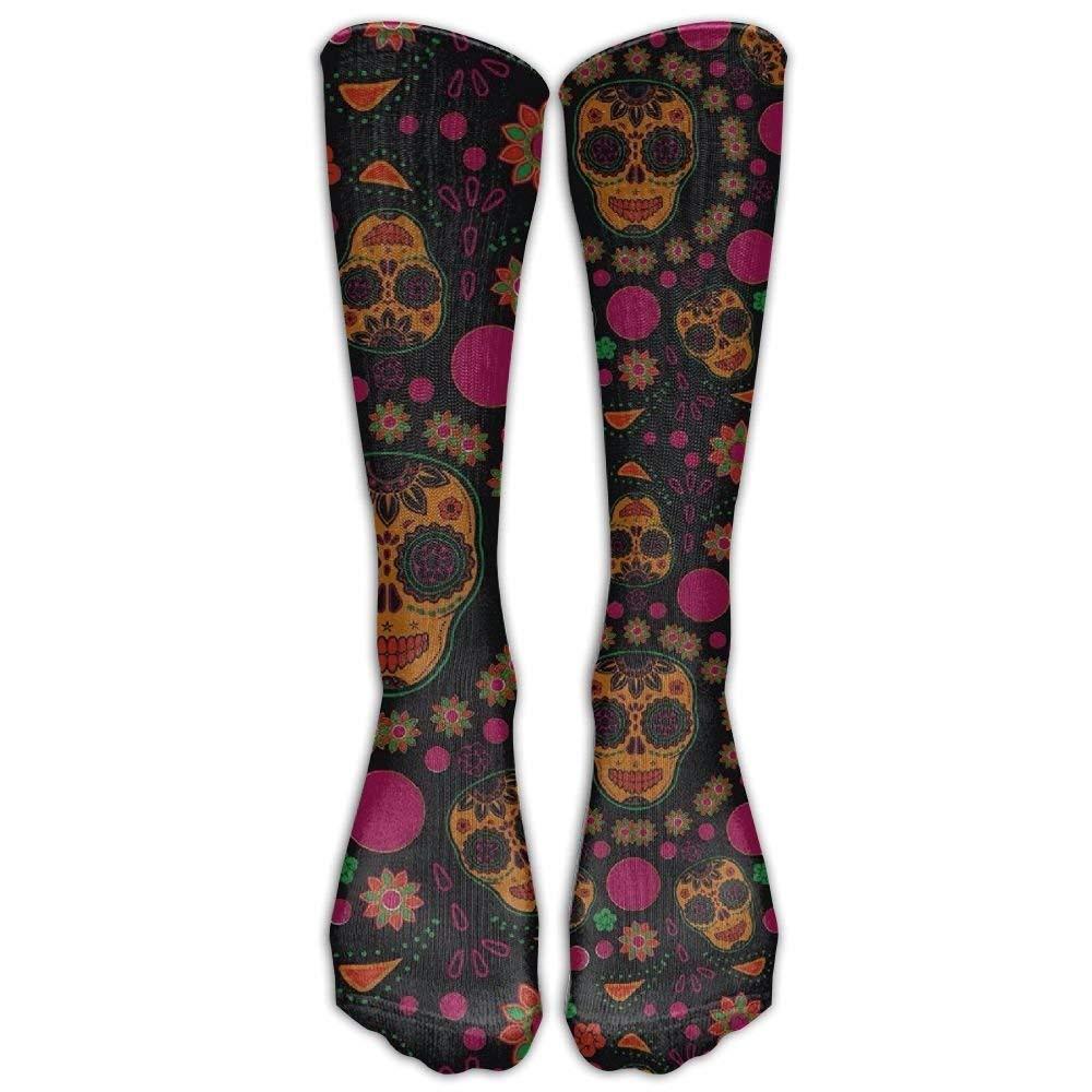 NEW DaSOC Sugar Skull Unisex Novelty Knee High Socks Athletic Tube Stockings One Size