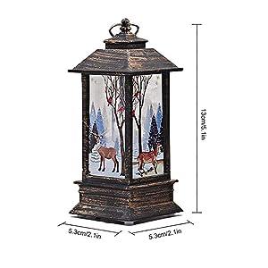 Lanterna con decorazioni natalizie,lampada a bottone con fiamma ambrata, batteria per decorazioni e regali speciali per il festival (2)