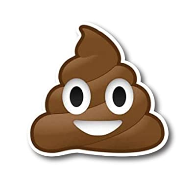 Poop Emoji Magnet Decal Perfect for Car or Truck: Automotive