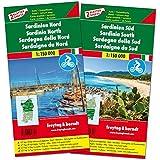 Sardinien Nord und Süd, Autokarten-Set 1:150.000, Top 10 Tips, freytag & berndt Auto + Freizeitkarten