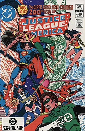 JUSTICE LEAGUE OF AMERICA #200, VF, George Perez, Wonder Woman, DC 1982