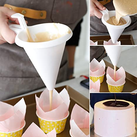 Kitchen /& Home Chocolate Baking Mold Pastry Tools Cream Dispenser Batter Funnel