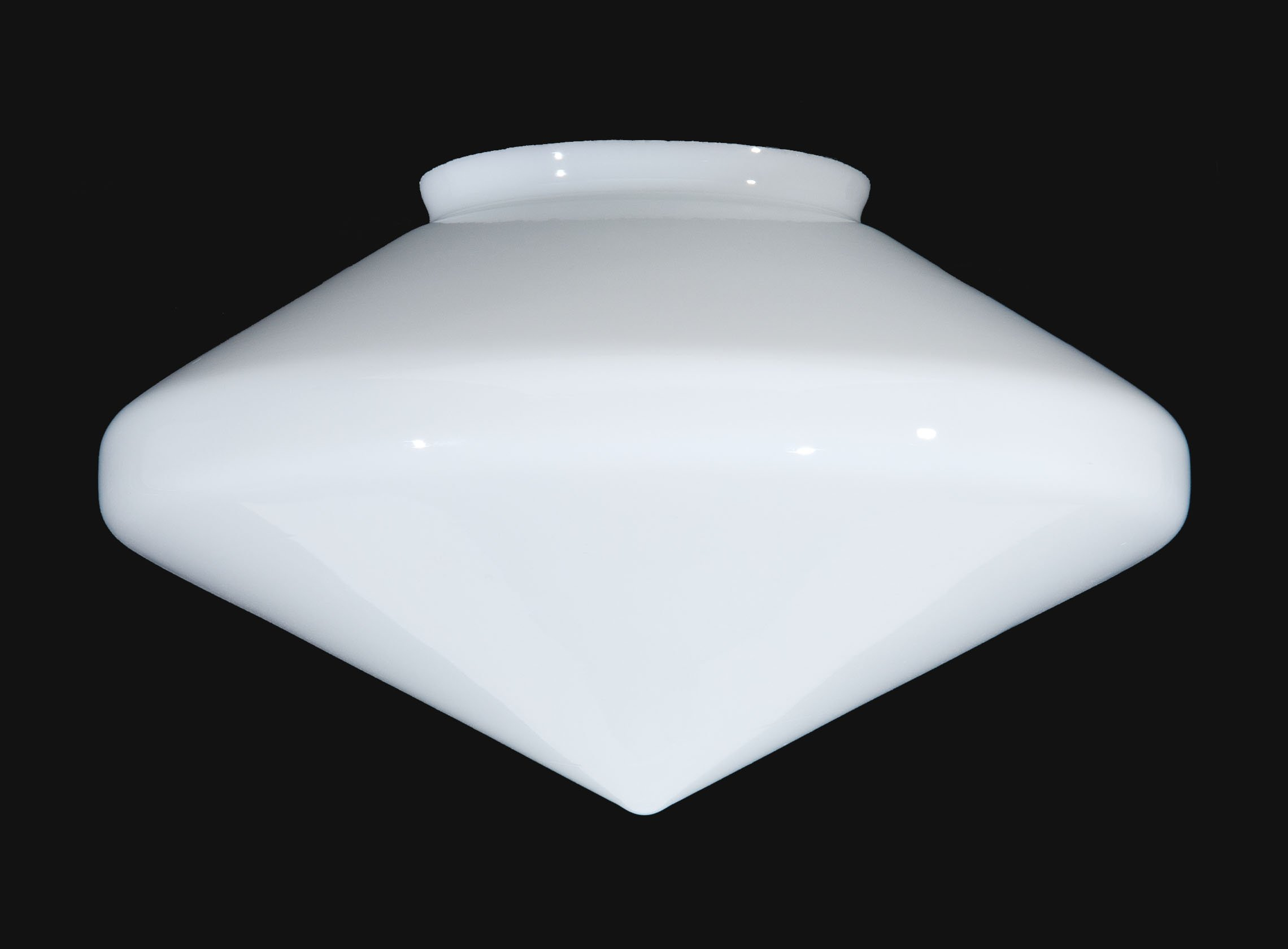 B&P Lamp 16'' Art Deco Style Opal Glass Shade by B&P Lamp