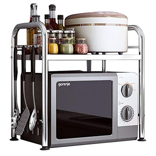 Estante doble de acero inoxidable para microondas, horno, cocina ...