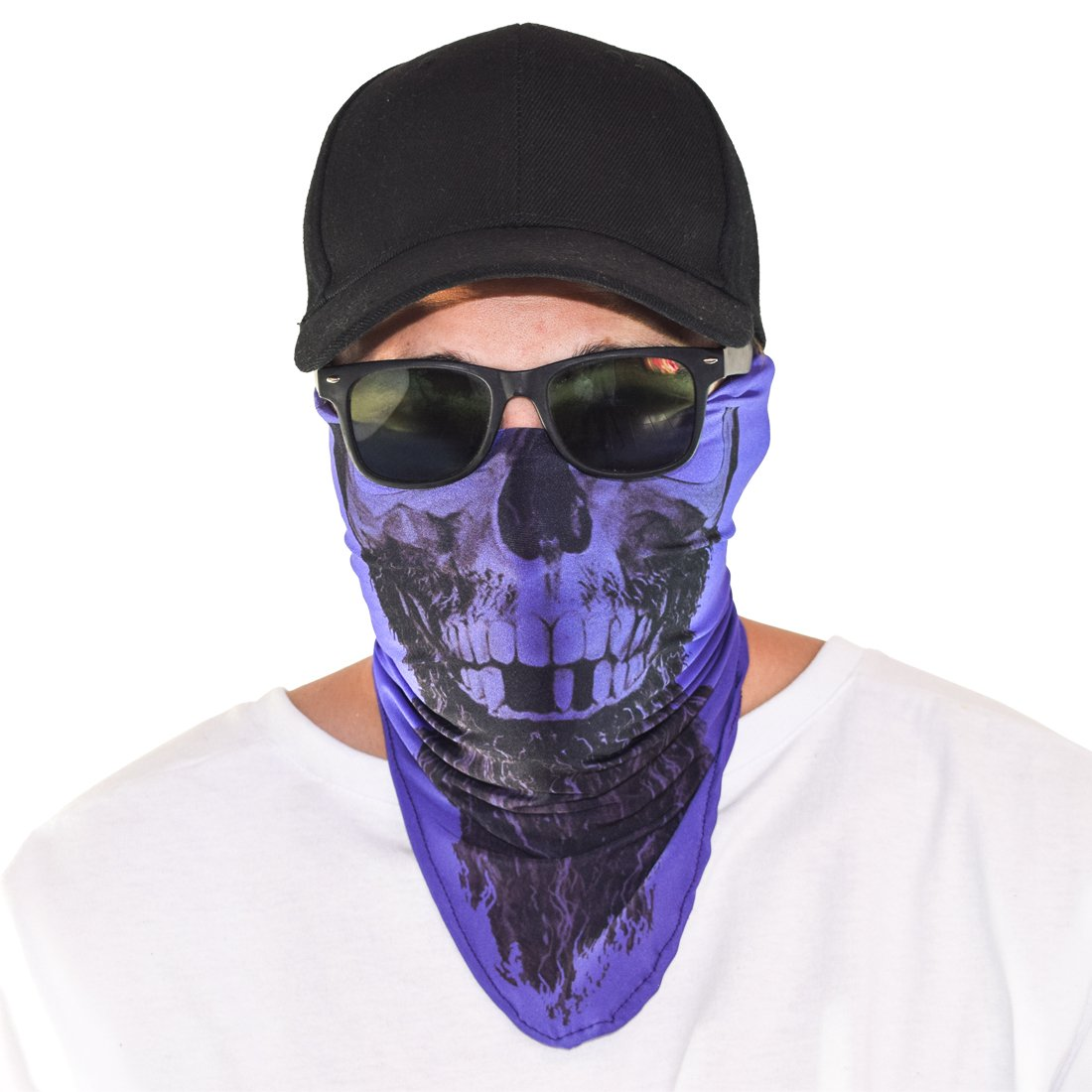 Santa Playa Maskies by Partying:: Rapp Scullywag Festivals Outdoors Fun Breathable Face Mask for Biking Running Hiking