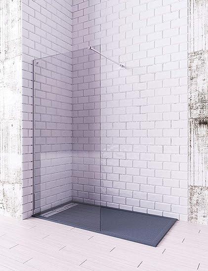 Modelo ARCOIRIS - Mampara de ducha de 1 hoja fija - Cristal Templado de 6 mm con ANTICAL INCLUIDO (120 cm): Amazon.es: Bricolaje y herramientas