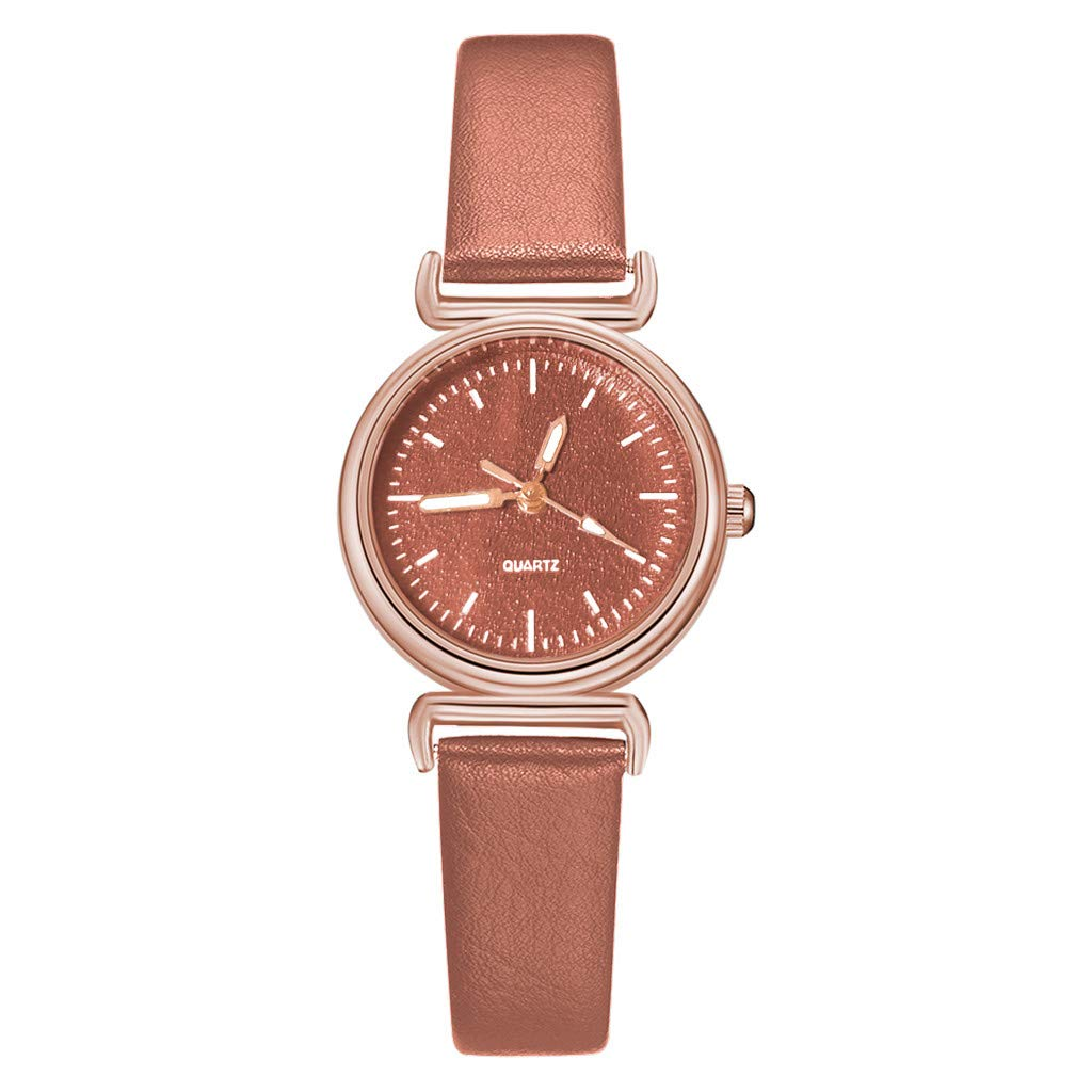 XBKPLO Quartz Watch Women Analog Wrist Watches Colorful Dial Leather Strap Bracelet Jewelry Gift
