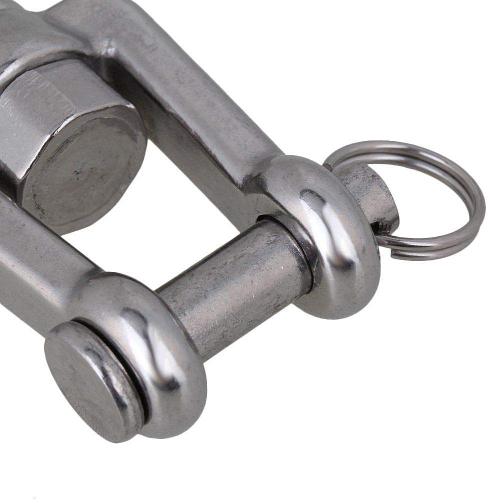 3//16 304 Stainless Steel Clevis Slip Hook with Latch;American Type Jaw Swivel Eye Lifting Crane Chain Hooks;360 Degree Revolving and Anti-Off Safety Rigging Accessory SWL:150KG//330.6LB