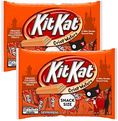 Kit Kat Halloween Orange (Kit Kat Chocolate Halloween Candy Seasonal Hand Out Packs - Fun Size Trick or Treat Candies For Kids (2 Bags Total) -)