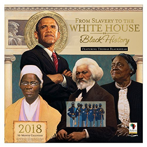 : Black Cards WC165 from Slavery to The White House 2018 Wall Calendar, Brown