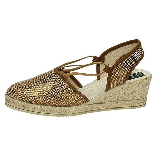 ISASA 0881/027 Alpargatas DE Lona Mujer Alpargatas Bronce 41: Amazon.es: Zapatos y complementos