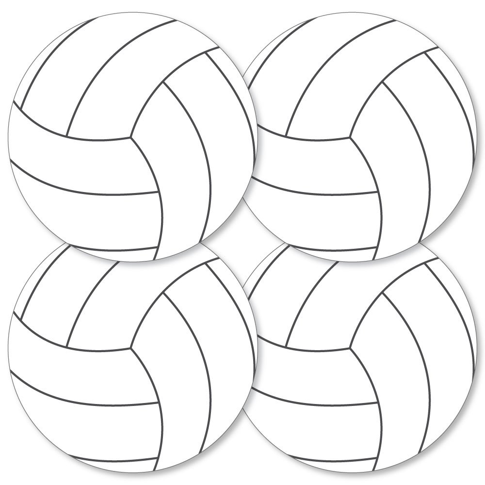 Bump, Set, Spike - Volleyball - Decorations DIY Baby Shower or Birthday Party Essentials - Set of 20 by Big Dot of Happiness
