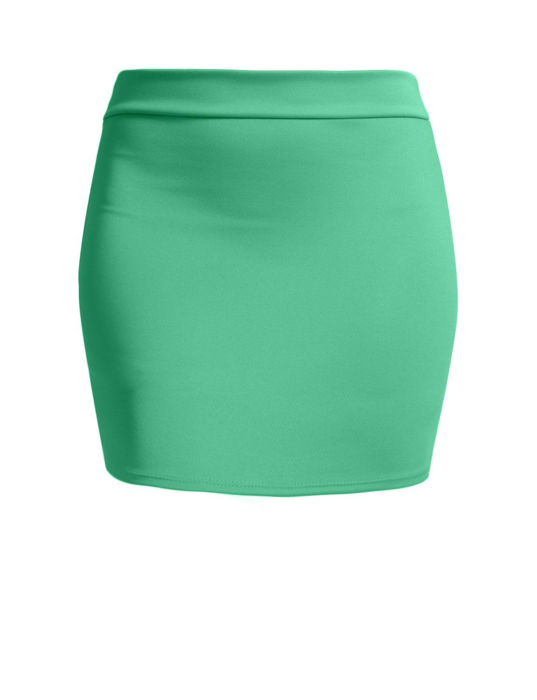 NE PEOPLE Women's Stretch Knit Bodycon Mini Pencil Skirt Made In USA