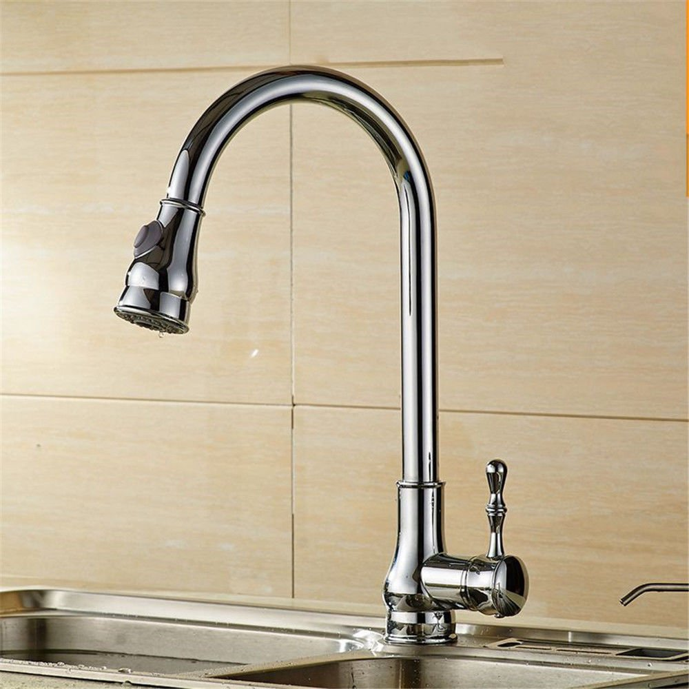 A NewBorn Faucet Kitchen Or Bathroom Sink Mixer Tap The Copper Dish Washing Basin Cold And Hot Pull The Tap To redate The Scaling-Down Wire-Tap C