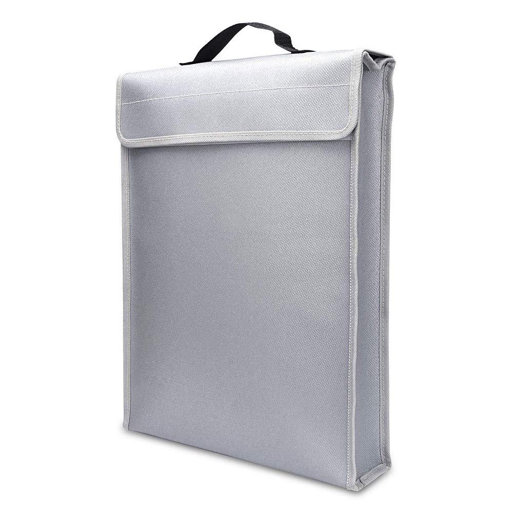Aibecy Feuerfeste Dokumententasche Inhaber Beutel Home Office Safe Bag Water Resistant Dateiordner Sichere Lagerung fü r Laptop Schmuck Cash Wertsachen 400 * 300 * 65mm
