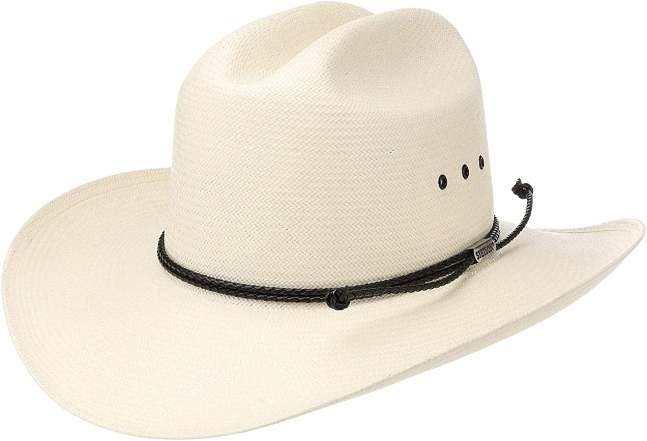 Natürlicher Stroh Hut Western Cowboy Hut Damen Herren Hand Gewebter Hut Auß L6C4