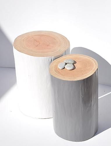 table de nuit chevet bois elegant gris ardoise stump tree table table tronc darbre rondin bois style scandinave amazonfr handmade - Table De Nuit Rondin De Bois