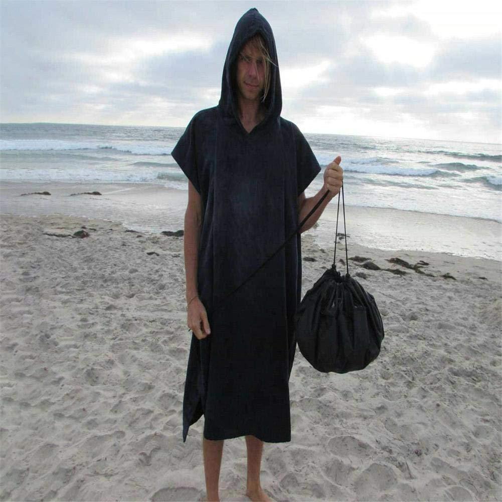 Poli/éster Impermeable Anti-UV JS-YHLUSI Playa Ropa De Ba/ño Traje De Neopreno Traje De Surf Bolsa De Almacenamiento Adecuado para Al Aire Libre Viajar,50Cm Negro