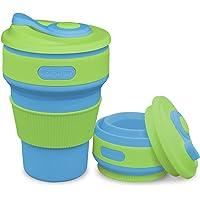 ROCONTRIP Collapsible Cup, Portable Travel Coffee Mug 100% Food Grade Silicone BPA Free Coffee Mug 350ml for Camping…