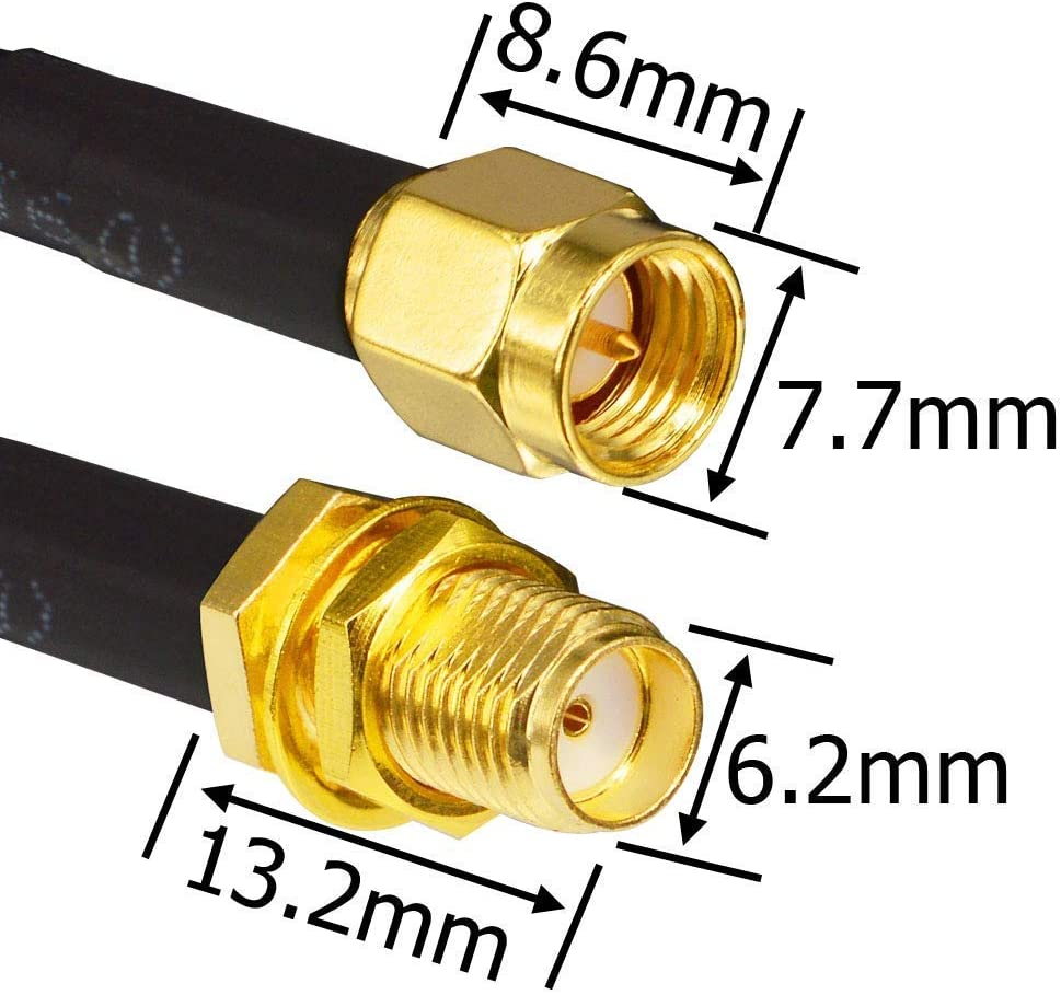 Coaxial Adapter SMA Female to 1,4//4,4 50 Ohm up to 20 GHz RARE!