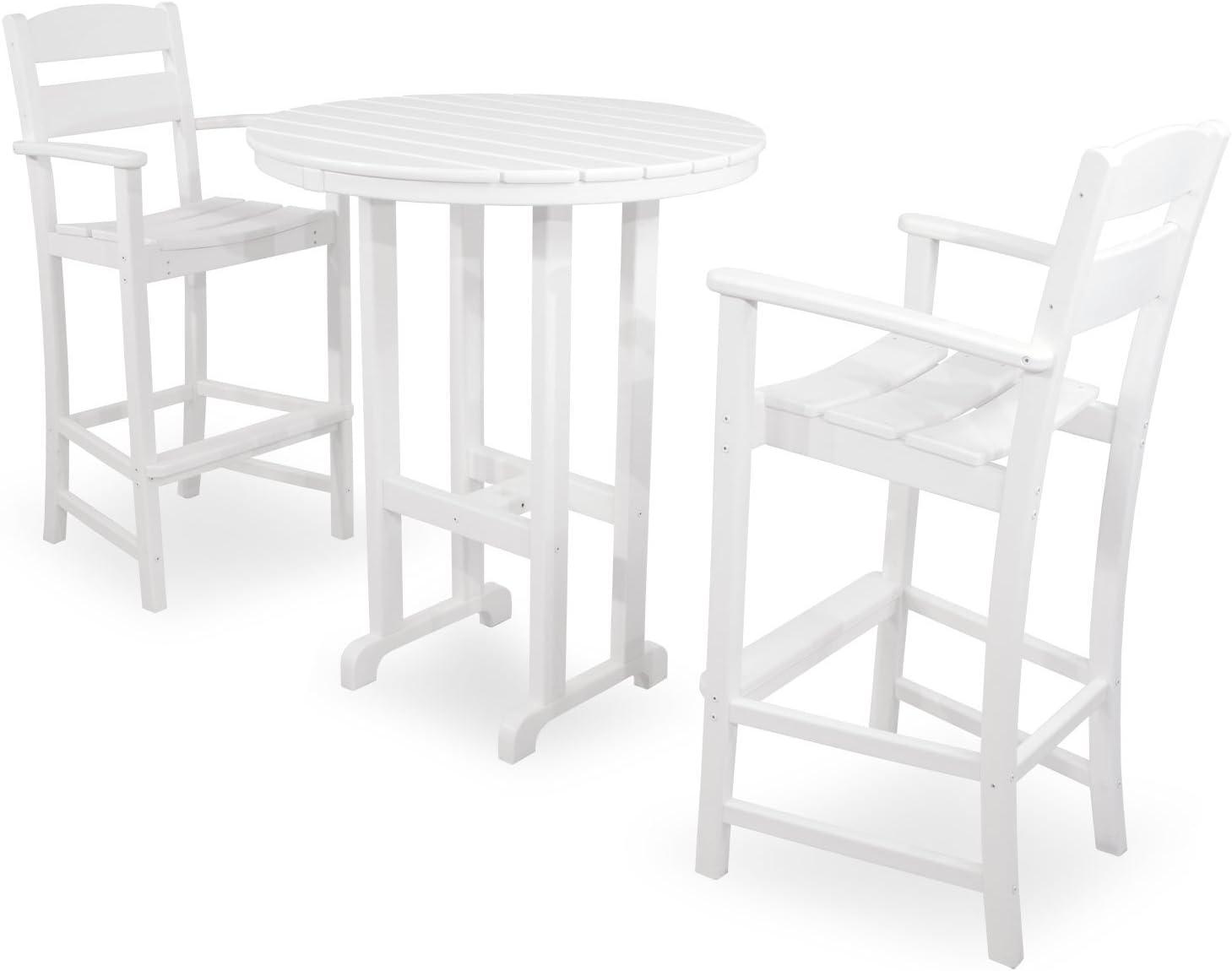 Ivy Terrace IVS111-1-WH Classics 3-Piece Bar Set, White