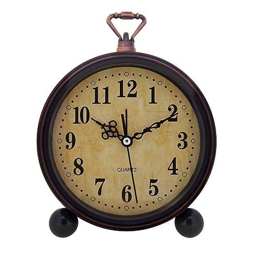 RXM Reloj de Escritorio Retro Decoración nostálgica anticuada ...