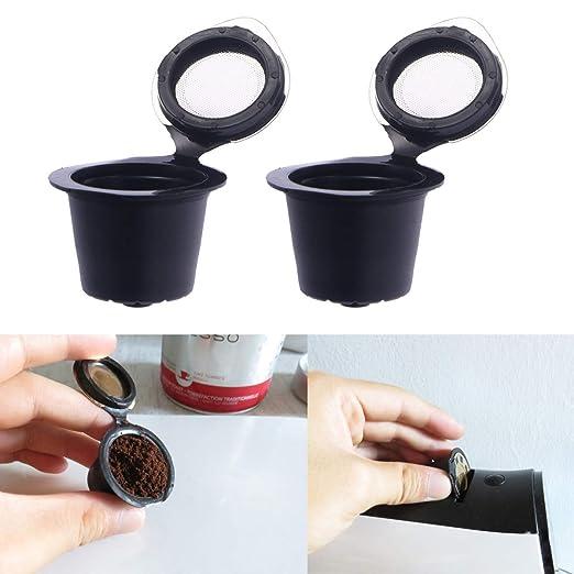 OUNONA 2 filtros de café Reutilizables con Tapas de Acero ...
