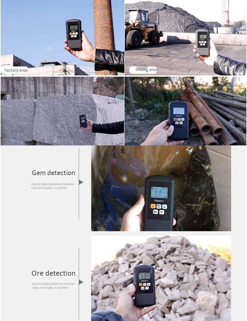 XUXUWA 금속 탐지기 FS2011 방사선 탐지기는 가이거 계수기 BETA GAMMA-RAY 와 LARM 대리석 테스터 도구 LCD 디스플레이 방사성 검출기
