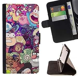 For Samsung Galaxy Core Prime / SM-G360 Case , Carácter Juegos Niños Juego- la tarjeta de Crédito Slots PU Funda de cuero Monedero caso cubierta de piel