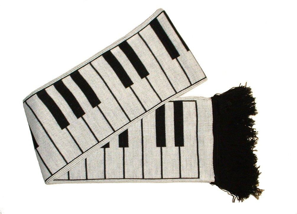 Teclas de Piano bufanda 152,4cm (fabricado en el Reino Unido por la Sra Barrett) 100% acrílico