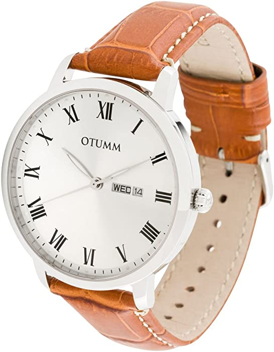 OTUMM Reloj analógico para Hombre de Cuarzo con Correa en Piel 02184