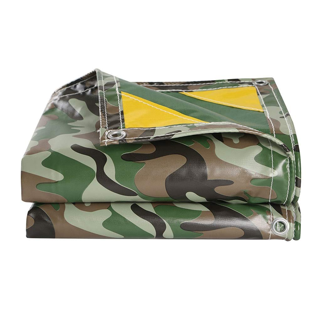 56m Outdoor Thick Wear-resistant Knife Scraping Camouflage Waterproof Cloth Waterproof Sunscreen Tarpaulin Truck Tarpaulin Canvas Sunshade Awning Cloth (Size   5  6m)
