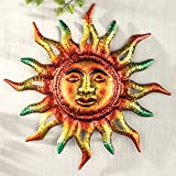 Cheap Metallic Sun Southwestern Patio Porch Hanging Sign Wall Plaque Sunburst Art