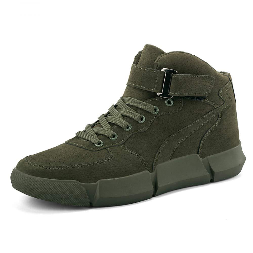 FHCGMX Stiefel Männer Schuhe Warme männliche Stiefel Komfortable Plüsch Lässige Kurze Schneeschuhe Schnüren FootwearWinter